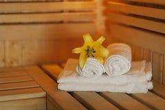 Sauna accessories stock image