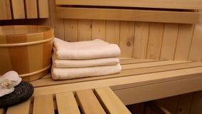 Sauna stock footage