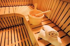 Sauna accessories Royalty Free Stock Photo