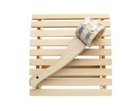 Sauna accessories on white stock photos