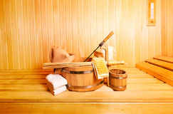 Sauna accessories Stock Photography