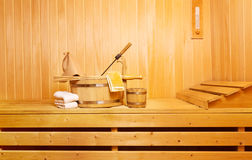 Sauna accessories Royalty Free Stock Images