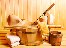 Sauna accessories Royalty Free Stock Photo