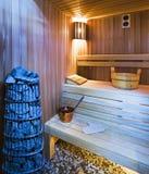 Sauna accogliente Fotografia Stock