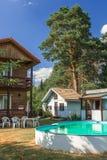 Sauna al loro cottage di estate - esterno Immagini Stock