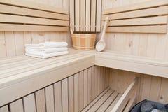 Sauna, balneario y salud Fotografía de archivo libre de regalías