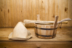 Sauna, bath accessories Stock Photo