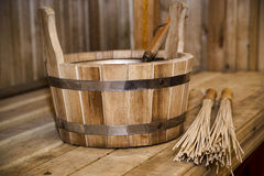 Sauna, bath accessories Royalty Free Stock Photos