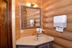 Sauna bathroom in the guest house Stock Images