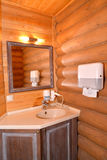 Sauna bathroom in the guest house Stock Photo