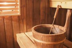 Sauna. Brown picture of an ordinary finnish sauna Stock Image