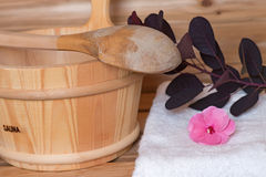 Sauna bucket Stock Image