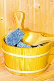 Sauna bucket Royalty Free Stock Images