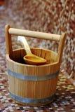 Sauna bucket royalty free stock photos