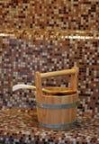 Sauna bucket stock images