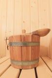 Sauna bucket Stock Photography