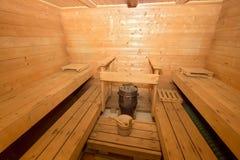 Sauna cabin Stock Images