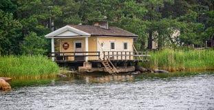 Sauna cabin Stock Photography