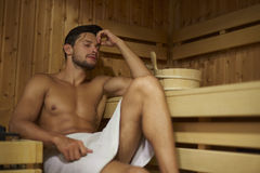 Sauna. Can clean your body and your mind stock photography