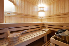 Sauna classic wooden Royalty Free Stock Image