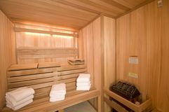Sauna custom built Stock Image