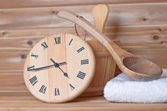 sauna czas Zdjęcie Stock