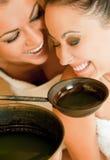 Sauna d'amusement de femelles Image libre de droits