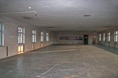 Sauna d'Entral dans l'ancien camp Auschwitz-Birkenau de concentration et d'extermination en Pologne Image stock