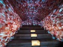Sauna d'intérieur de sel - coloré allumé images stock