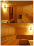Sauna de madera Fotografía de archivo