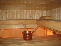 Sauna de madera clásica Fotos de archivo