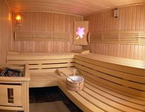 sauna de pièce Photographie stock libre de droits