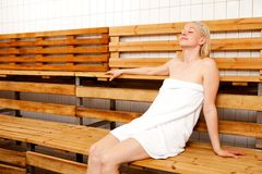 Sauna de station thermale Image stock