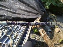 Sauna del campo Immagine Stock