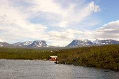 Sauna del lago Fotografie Stock Libere da Diritti