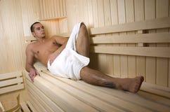 Sauna della stazione termale Immagine Stock
