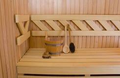 Sauna detail Royalty Free Stock Photo