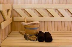 Sauna detail Stock Images
