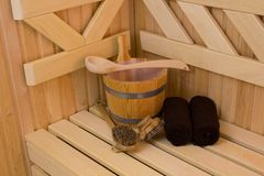 Sauna detail Royalty Free Stock Photography