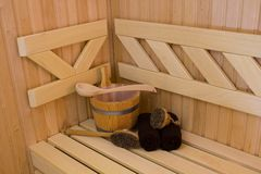 Sauna detail Stock Image