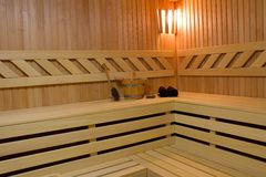 Sauna detail Stock Photography