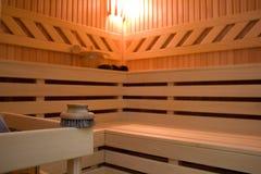 Sauna detail Stock Photos