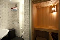 Sauna domestica Immagini Stock
