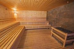 Sauna in een gezondheidskuuroord Royalty-vrije Stock Afbeeldingen