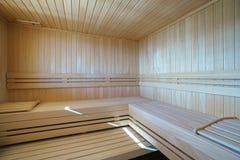 Sauna in einem privaten Landhaus Lizenzfreie Stockfotos