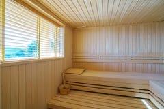 Sauna in einem privaten Landhaus Lizenzfreie Stockfotografie
