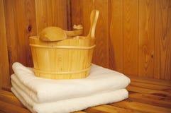 Sauna stock afbeelding