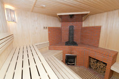 Sauna en bois Photo stock