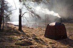 Sauna en orilla Foto de archivo