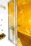 Sauna entrance Stock Photos
